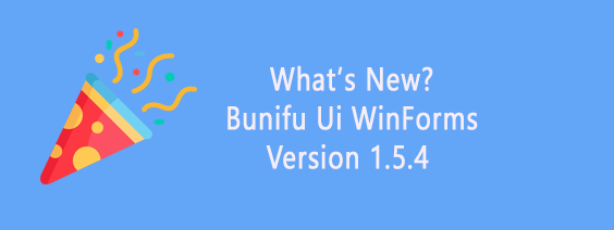 what's new bunifu UI WinForms verson 1.5.4