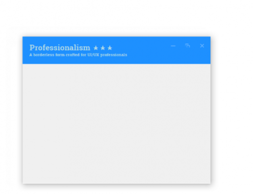 Bring your borderless Windows Forms to life with Bunifu's Form Dock component